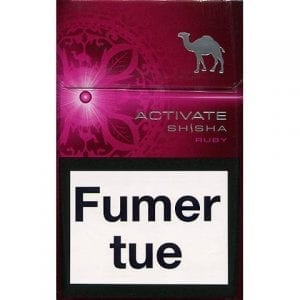 Vente de Cigarettes Camel Activate Shisha Ruby en ligne