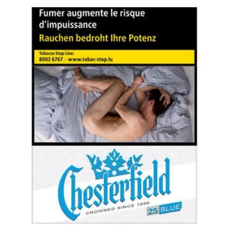 Achat de Cigarettes Chesterfield bleue pas chères