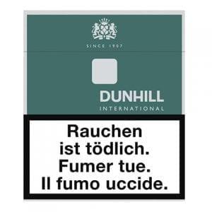 Achat de Cigarettes Dunhill International vert