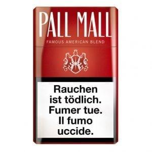 Achat de Cigarettes Pall Mall rouge pas chères